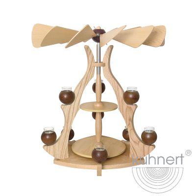 Drechslerei Kuhnert - Massivholzpyramide - braun