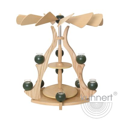 Drechslerei Kuhnert - Massivholzpyramide - grün